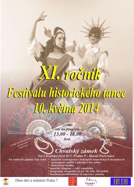 Festival historického tance - pozvánka