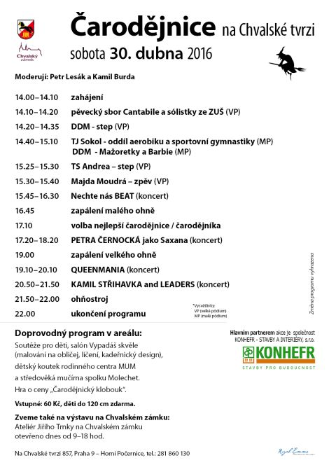 Program Čarodějnic 2016