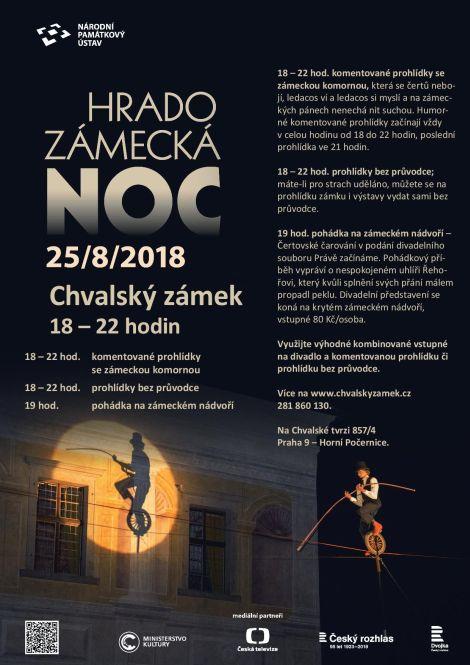 Hradozámecká noc 2018 na Chvalském zámku