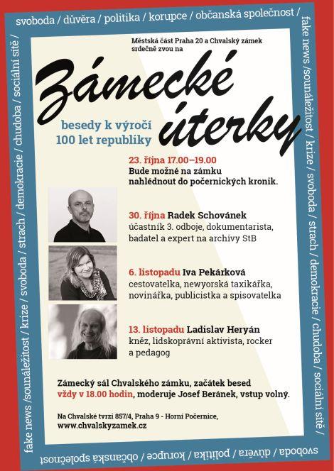 Zámecké úterky - Radek Schovánek, Iva Pekárková a Ladislav Heryán