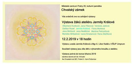 Výstava žáků ateliéru Jarmily Králové na Chvalském zámku