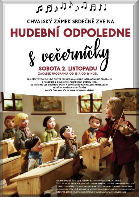 Plakát k Hudebnímu odpoledni s Večerníčky
