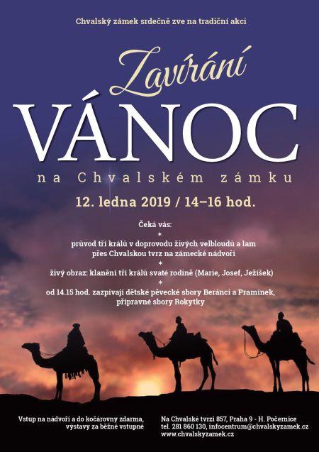 Plakát k akci Zavírání Vánoc