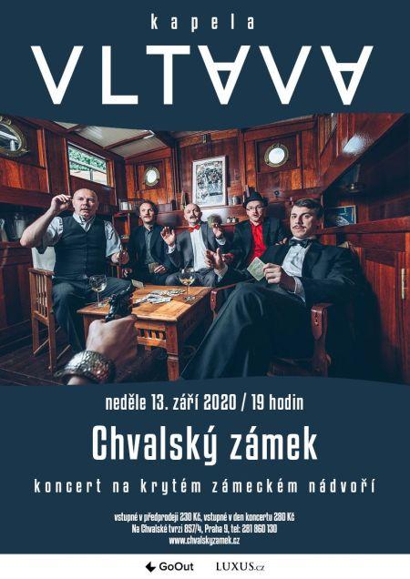 Plakát k akci Koncert kapely Vltava na zámeckém nádvoří
