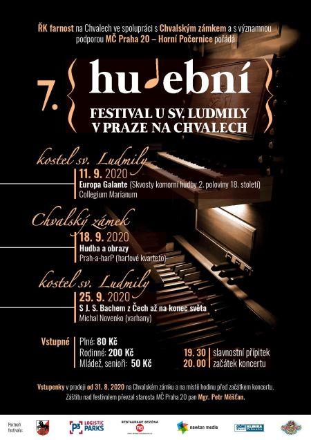 Plakát k akci Hudební festival u sv. Ludmily