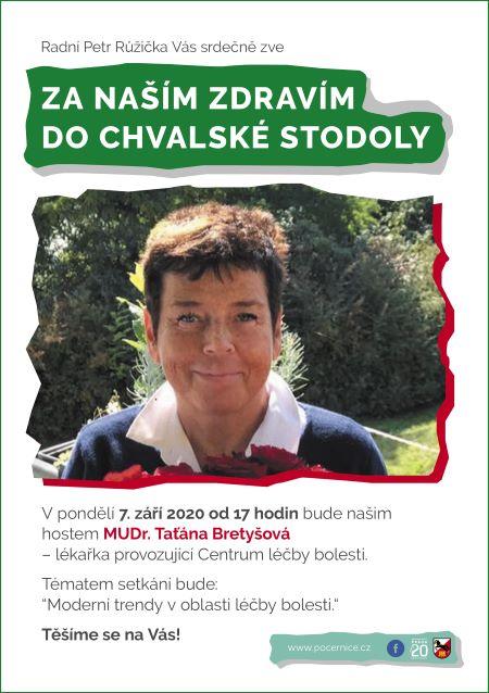 Plakát k akci Posezení s MUDr. Taťánou Bretyšovou