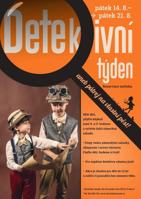 Plakát k akci Srpnový detektivní týden