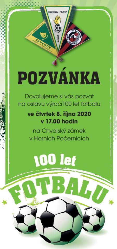 Plakát k akci výstava 100 let počernického fotbalu
