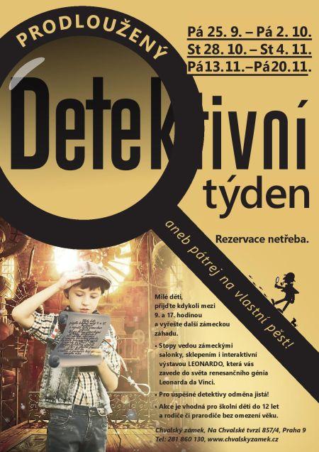 Plakát k akci Prodloužený Detektivní týden aneb pátrej na vlastní pěst!