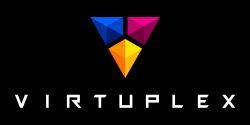 Logo společnosti Virtuplex, partnera výstavy LEONARDO