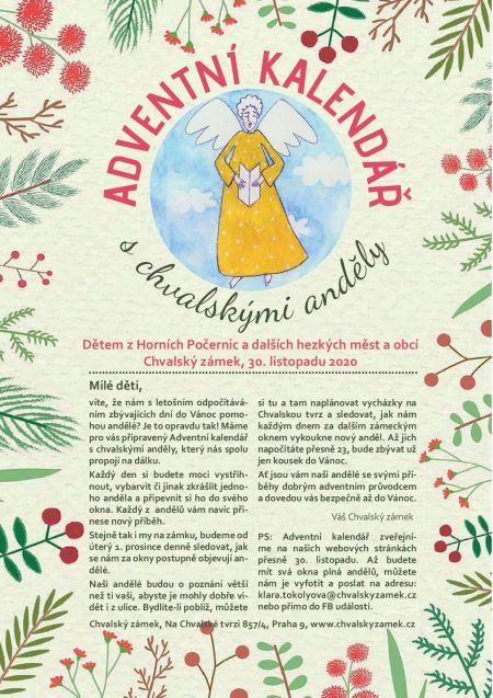 Plakát k akci Adventní kalendář s chvalskými anděly