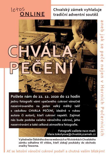 Plakát k soutěži Chvála pečení aneb jak se peče nejen v Horních Počernicích