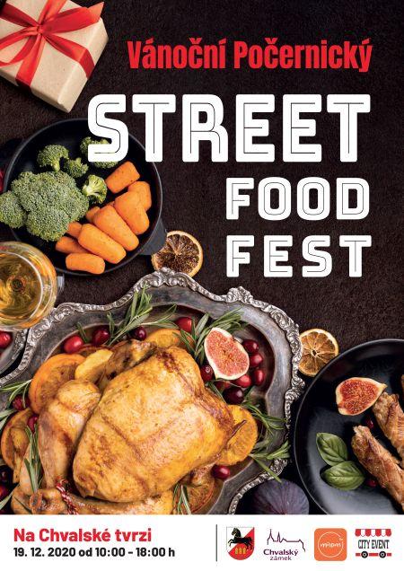 Plakát k akci Vánoční počernický STREET FOOD FEST