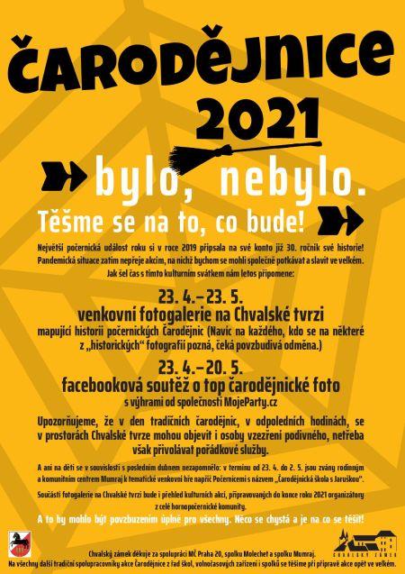 Plakát k akci Čarodějnice 2021
