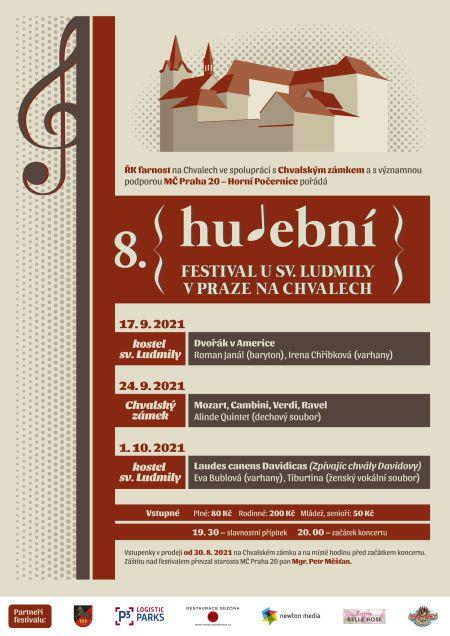 Plakát k akci Hudební festival u svaté Ludmily