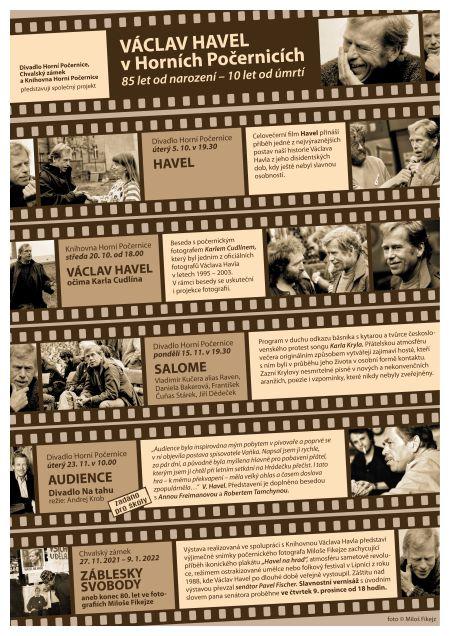 Plakát ke kulturnímu projektu Václav Havel v Horních Počernicích